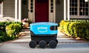 one of amazon's new delivery robots