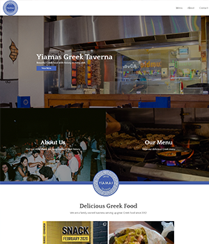 OnePatch developed Yiamas Greek Taverna